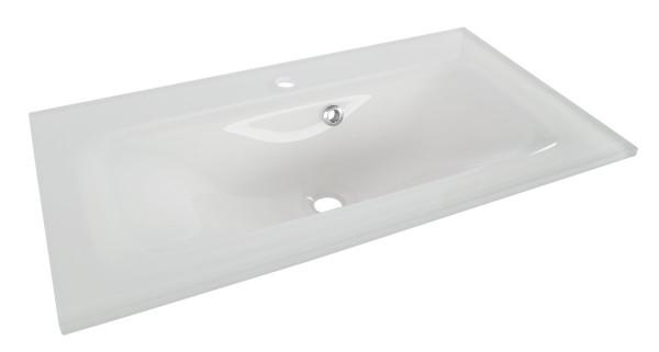 Fackelmann YEGA Waschbecken 80 cm aus Glas, 74001