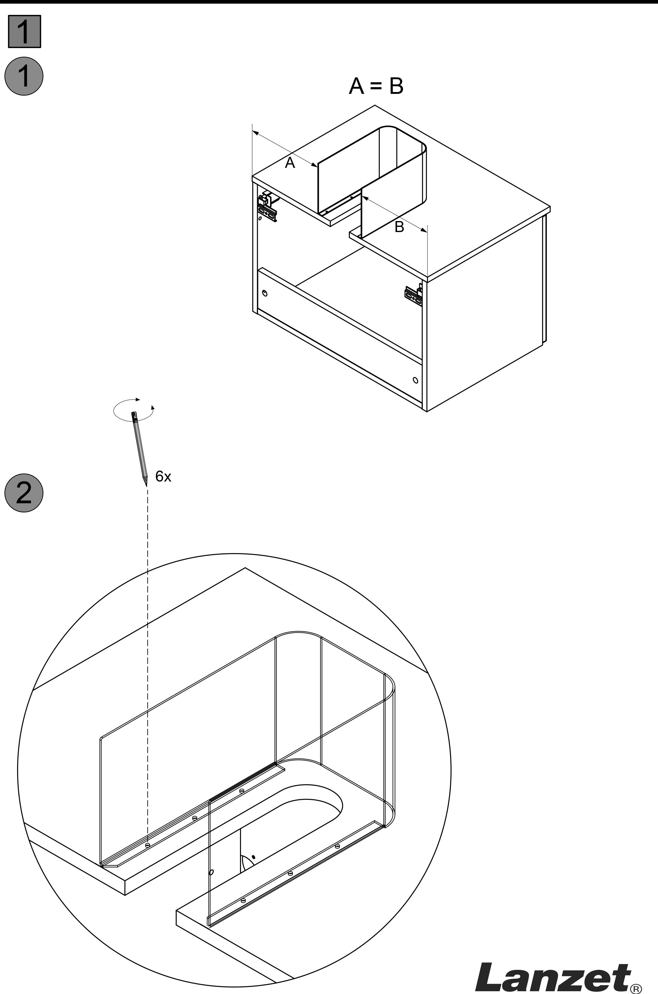 Lanzet C7 Siphonverkleidung für Waschtischunterschrank