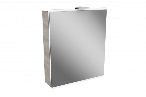 Relativ Fackelmann LIMA LED Spiegelschrank 60 cm, Braun/Weiß | badedu.de ER28