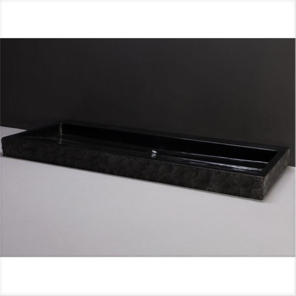 Waschbecken Naturstein PALERMO (100,5 cm) Granit, ohne Hahnloch, 100184, 11141145