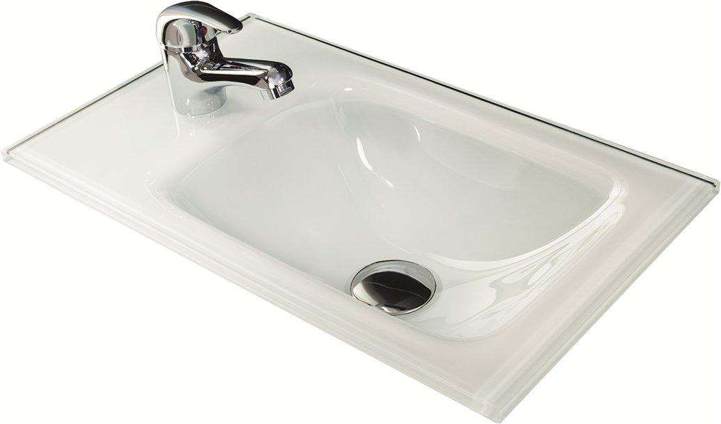 fackelmann waschbecken 45 cm aus glas waschbecken badm bel badedu. Black Bedroom Furniture Sets. Home Design Ideas