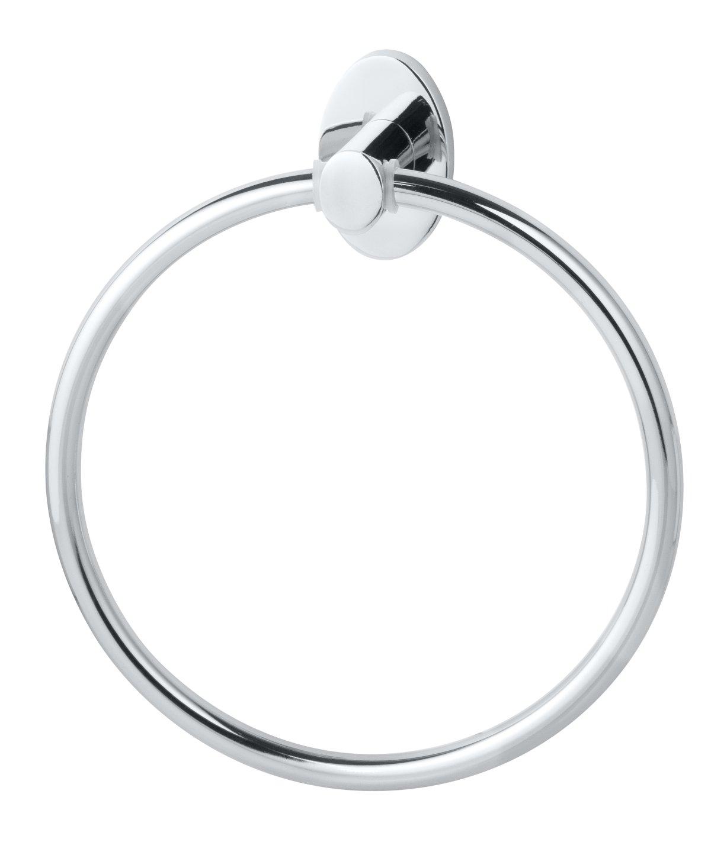 Fackelmann TARIS Handtuchhalter Ring 16cm chrom BadeDu